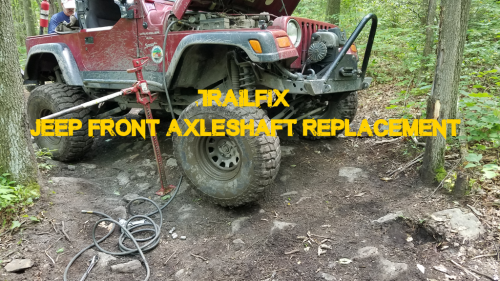 TJ Axle Shaft Replacement.