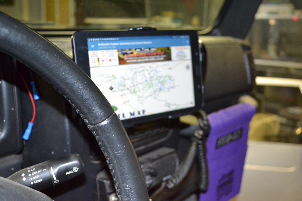 ProClip Tablet Mount in a 2005 LJ