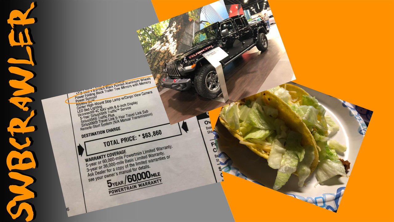 Jeep Gladiator Pricing Hoax, Tacos, and a garage oops