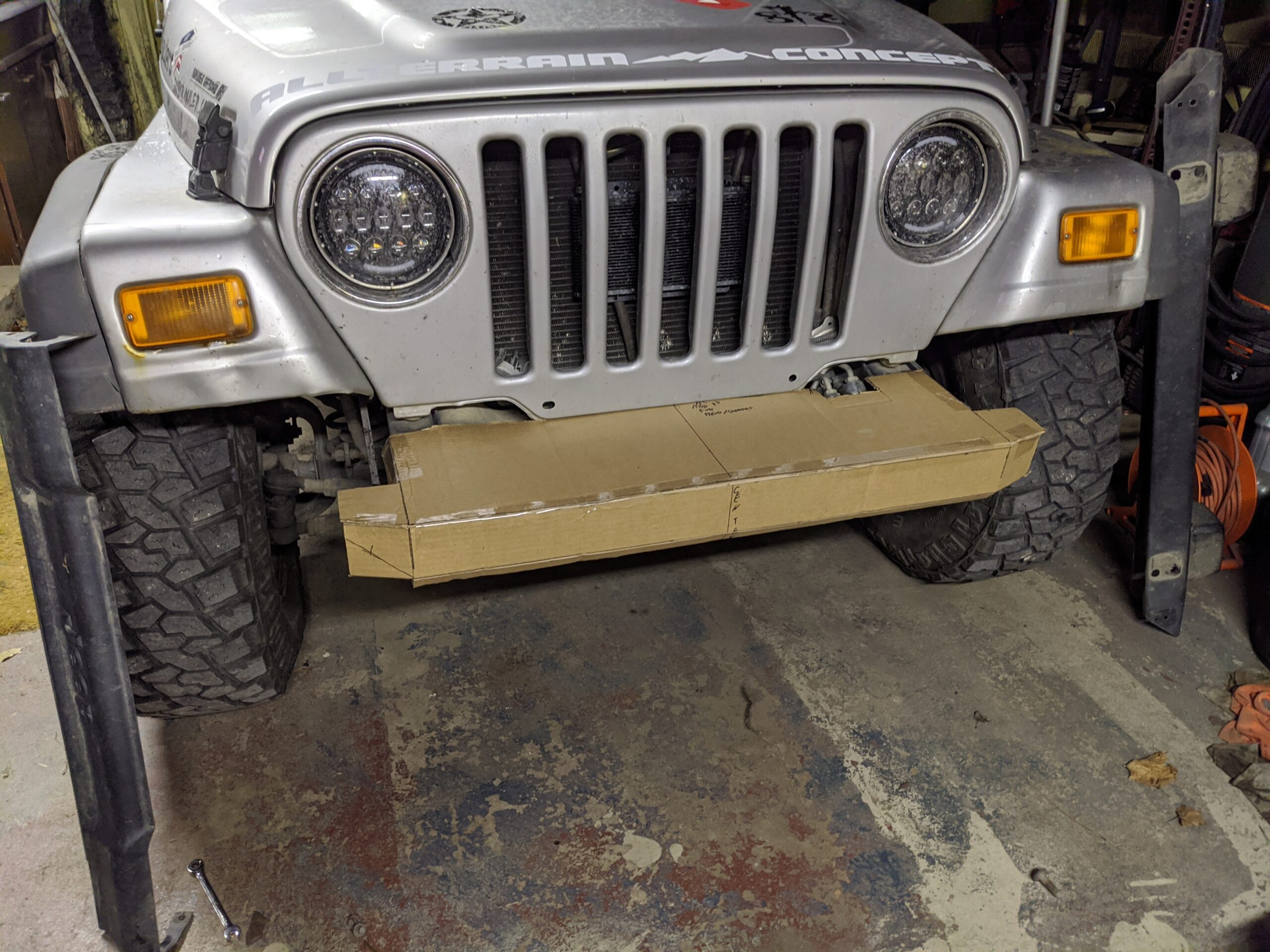 Bumper Fabrication Episode 1: Cardboard Aided Design