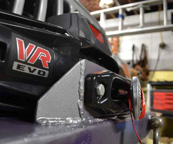 Modifying my bumper to hold a winch, and installing a Warn VR EVO 8s on my 2005 Jeep Wrangler LJ