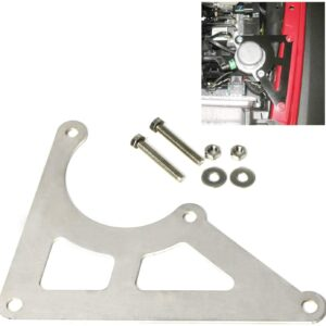 iJDMTOY Stainless Steel Brake Booster Air/Vacuum Pump Relocation Mounting Bracket, Compatible With 2012-2018 Jeep Wrangler JK JKU