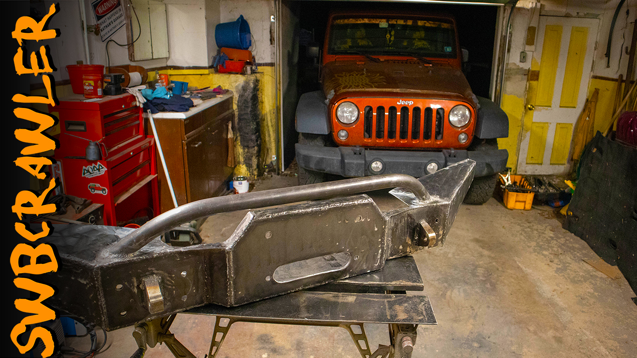 Home Made Jeep Bumper – Let's sink a Warn M12000 between the frame rails of a 2014 Jeep Wrangler JKU
