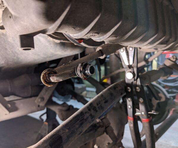 Jeep TJ 42RLE Radiator Cooling Line Fittings